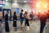 Blurred background queue
