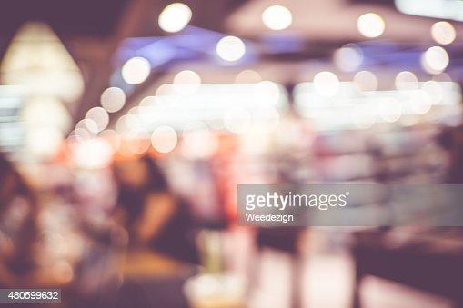 Blurred background : Vintage filter , Coffee shop blur : Stock Photo