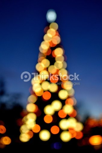 Albero Di Natale Sfocato Stock Photo Thinkstock