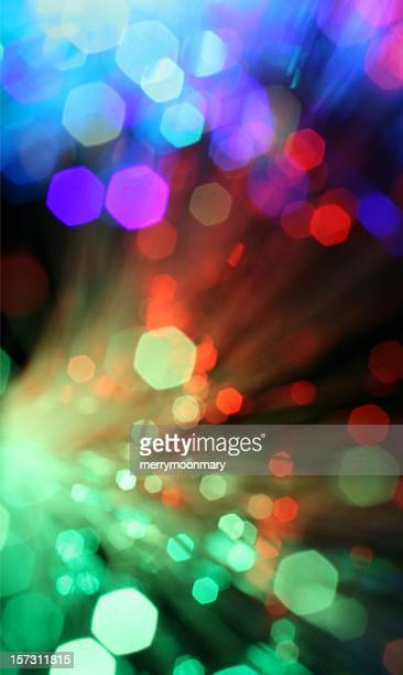 Blurred colorful sparklers bursting