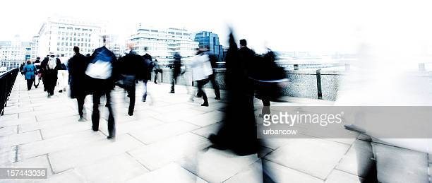 Blurred commuters
