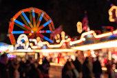 Blurred festive lights of Winter Wonderland for background use