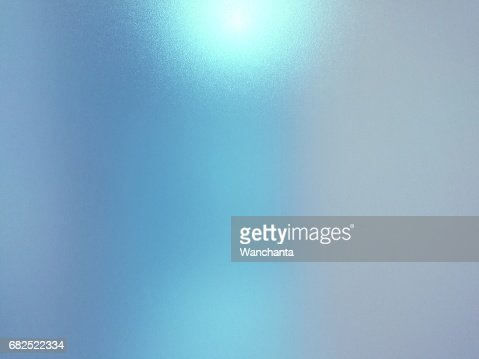 Blurred frosted glass texture background with light reflection, Grey and blue colors. : Stock Photo