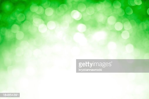 Blurred green sparkles