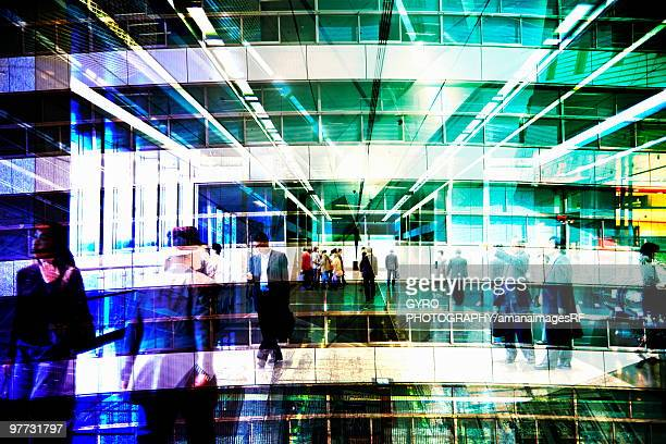 Blurred Image of People Walking Through a Station. Nagoya, Aichi Prefecture, Japan