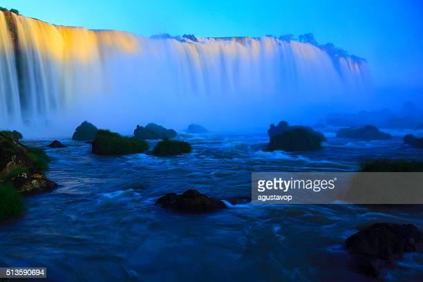 blurred long exposure iguacu falls, Brazil Argentina, South America
