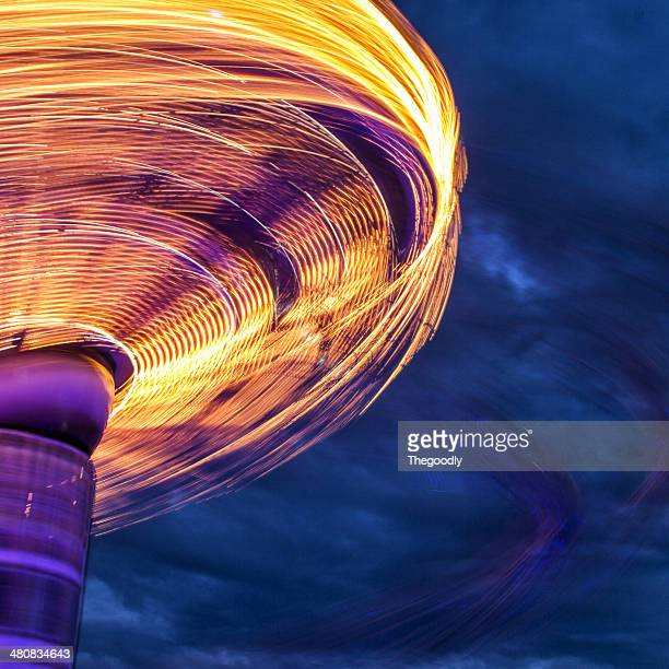 Blurred motion of side of carousel