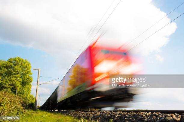 Blurred Motion Of Train