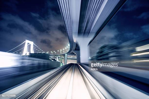 Blurred motion on the Subway in Tokyo