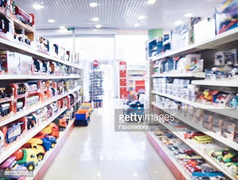 Blurred of kids toy store : Stock Photo