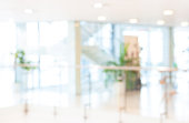 blurred office background, bokeh background, conference hall, circle table