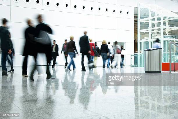 Blurred People in Modern Interior
