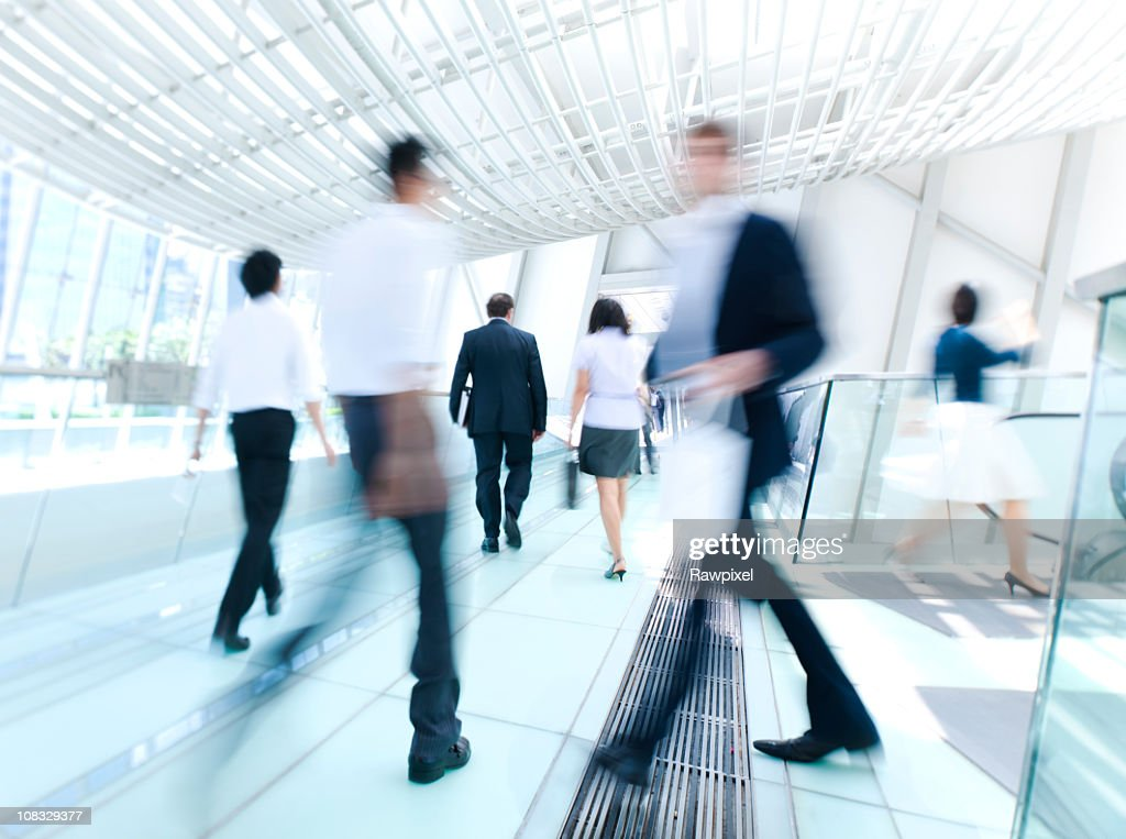 Business People in motion : Stock Photo