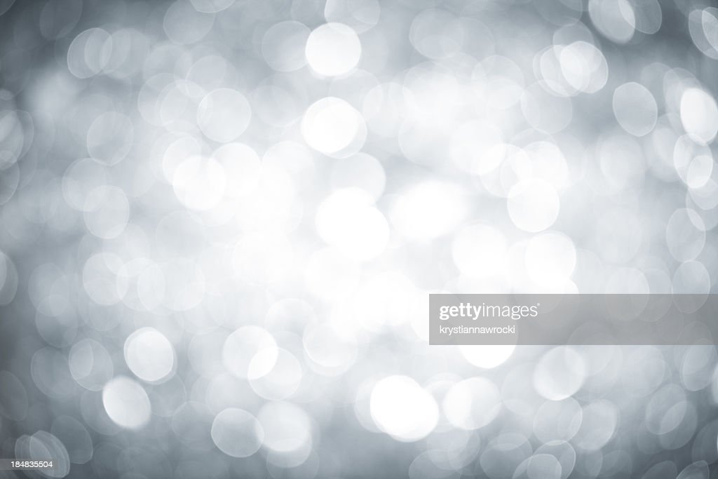 Blurred silver sparkles