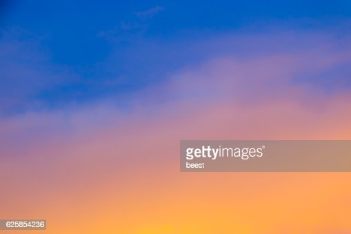 Blurred Sky During Sunset - Gradient Background : Stock Illustration