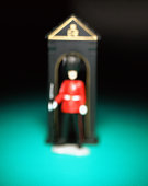Blurred toy soldier