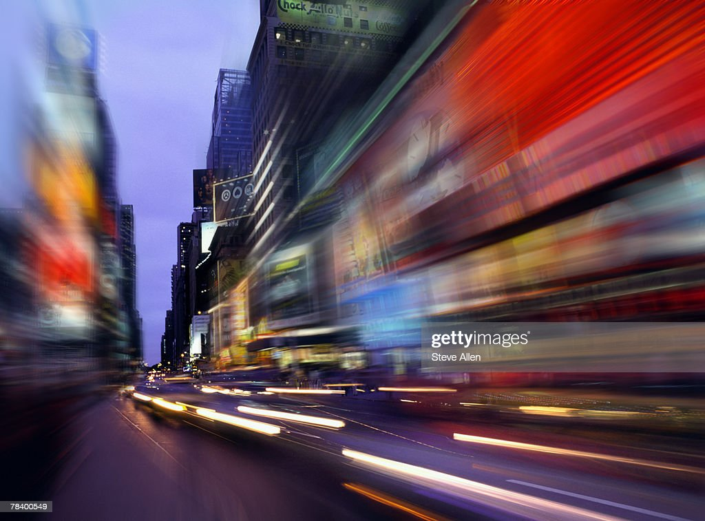 Blurred view of Times Square, New York : Stock Photo