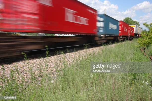 Blurry Container Train