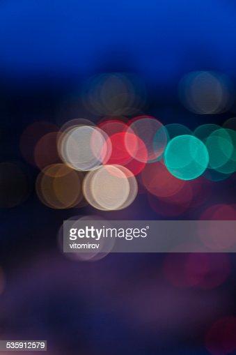 blurry lights bokeh background,street and traffic lights : Stock Photo