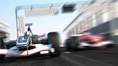 Car Formula 1 car with zoom focus.