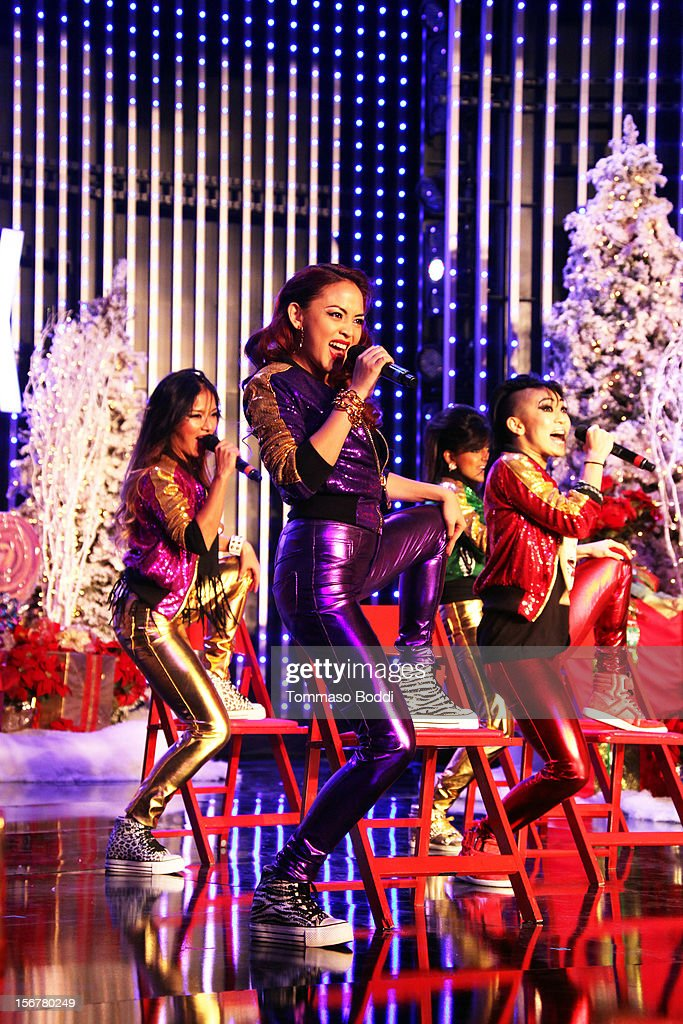 Blush perform at the 2012 Hollywood Christmas Parade Concert held at Universal CityWalk on November 20, 2012 in Universal City, California.