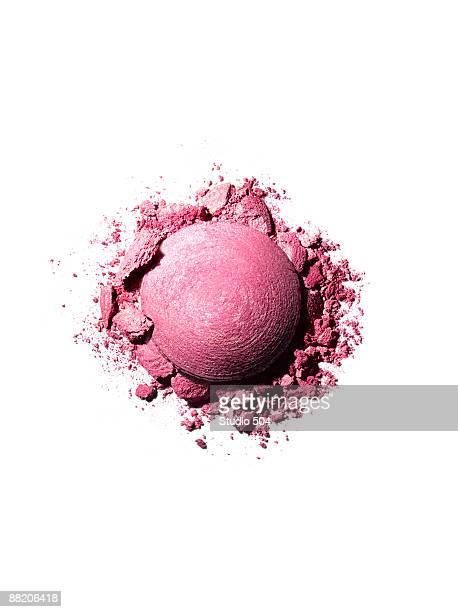 Blush with crushed powder