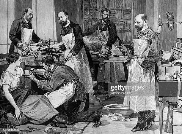 Bluttransfusion von einer Ziege zurBekämpfung der Tuberkulose in Paris 1891