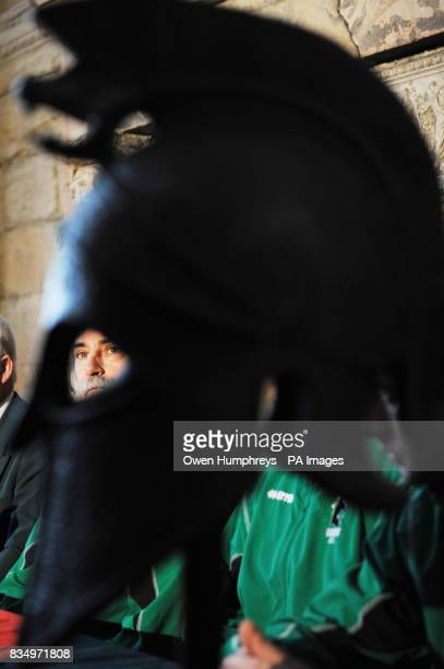 Blyth Spartans manager Harry Dunn during a photo call at Seaton Delaval Hall Seaton Sluice