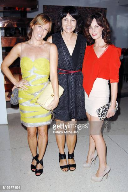 Blythe Barger Alisa Ratner and Kelly Lamb attend The First Annual Benefit Hosted By Los Angeles Nomadic Division at Private Residence on July 14 2010...