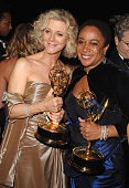 Blythe Danner and S Epatha Merkerson during The 57th Annual Emmy Awards Governors Ball at Shrine Auditorium in Los Angeles California United States