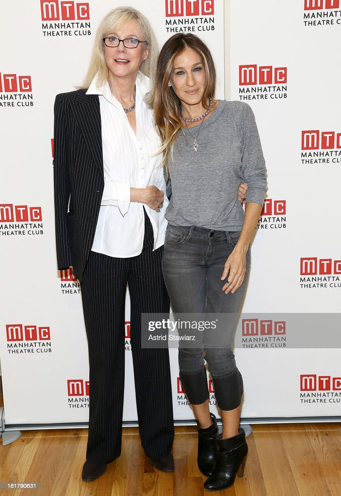 Blythe Danner and Sarah Jessica Parker attend 'The Commons Of Pensacola' Off Broadway cast photo call at Manhattan Theatre Club Rehearsal Studios on September 25, 2013 in New York City.