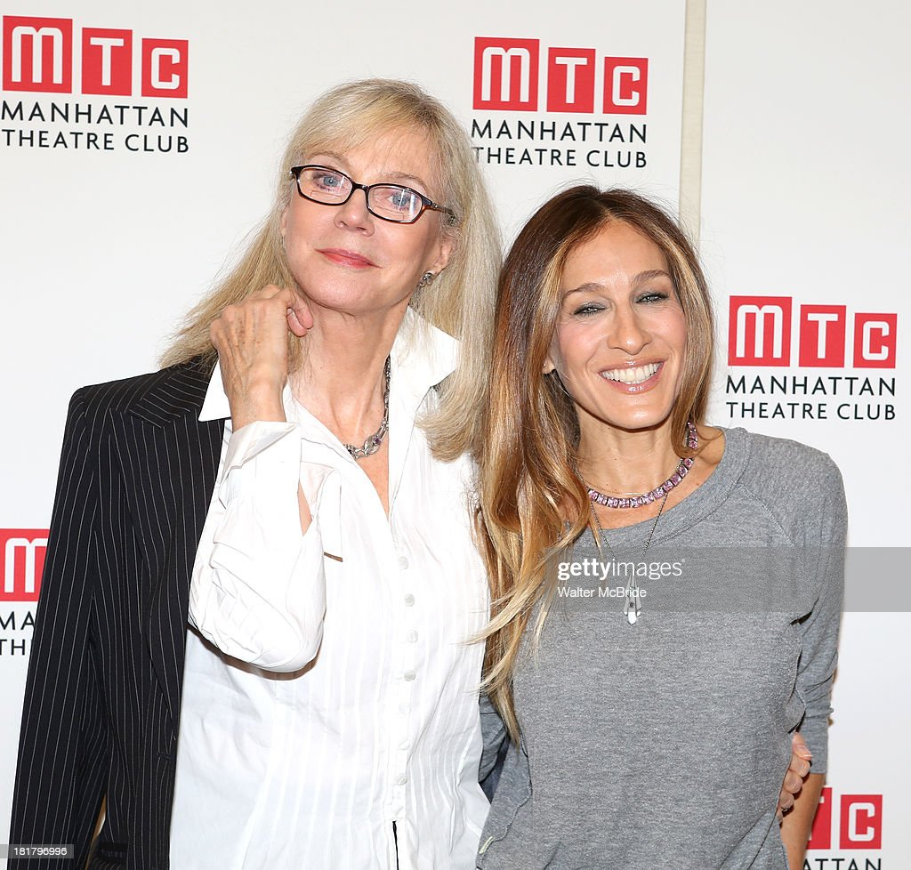 Blythe Danner and Sarah Jessica Parker attending the Meet & Greet for the MTC Production of 'The Commons of Pensacola' at the Manhattan Theatre Club Rehearsal Studios on September 25, 2013 in New York City.
