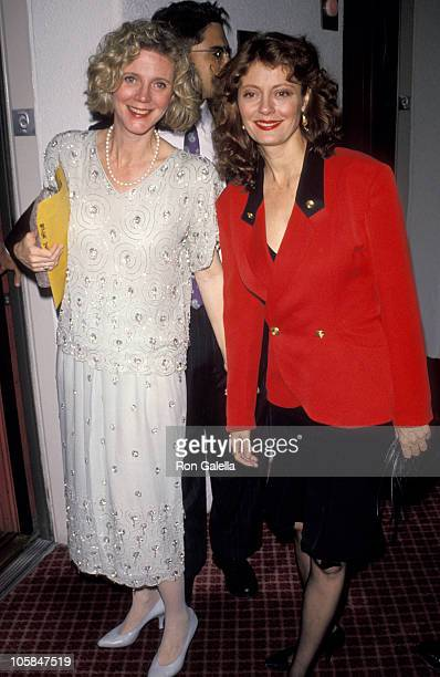 Blythe Danner and Susan Sarandon during 11th Annual Womens Sports Foundation Awards at Marriott Marquis in New York City New York United States