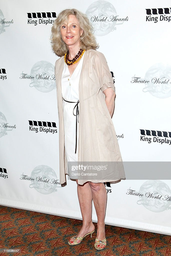 Blythe Danner attends the 67th annual Theatre World Awards Ceremony at the August Wilson Theatre on June 7, 2011 in New York City.