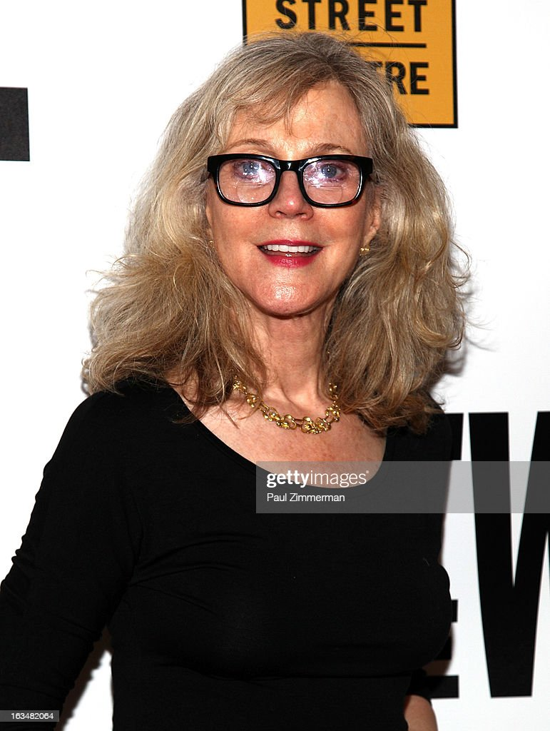 Blythe Danner attends the 'Hit The Wall' Off Broadway opening night at the Barrow Street Theatre on March 10, 2013 in New York City.