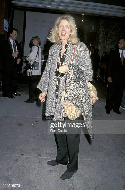 Blythe Danner during Opening Night of 'Moon Over Buffalo' at Martin Beck Theater in New York City New York United States
