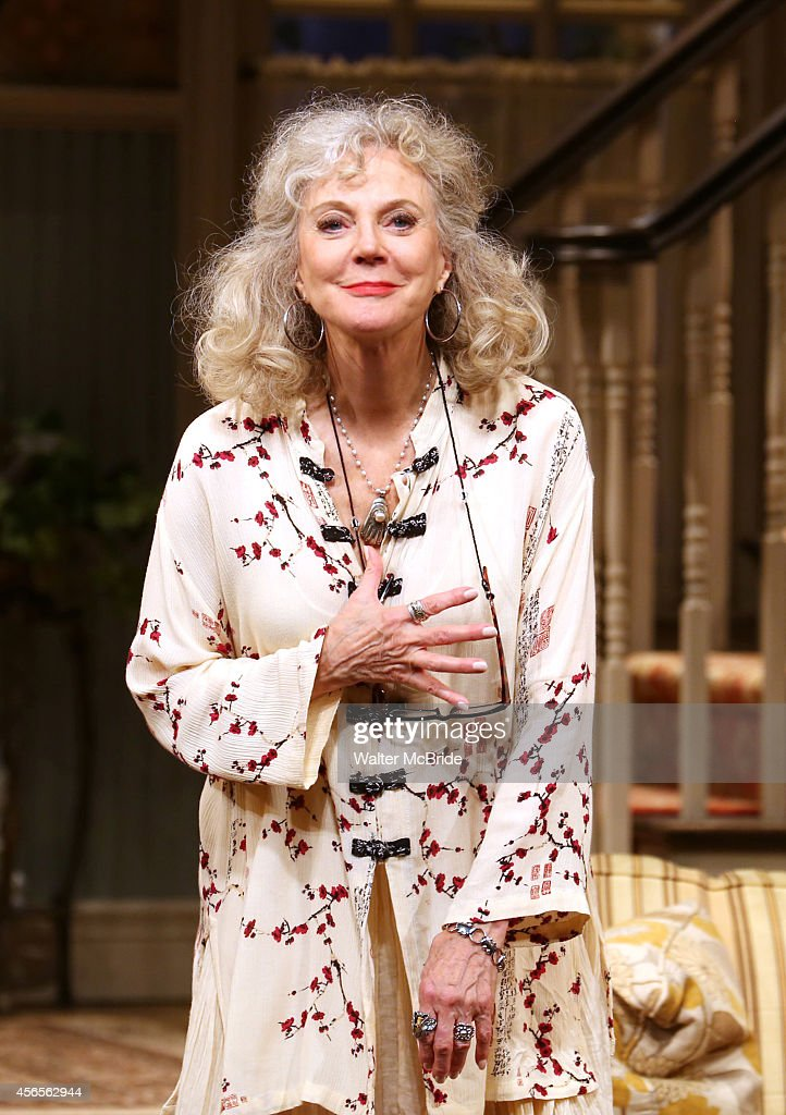 Blythe Danner during the Broadway Opening Night Performance Curtain Call for 'The Country House' at the Samuel J Friedman Theatre on October 2 2014...