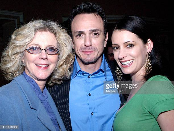 Blythe Danner Hank Azaria and Paget Brewster during Showtime Network TCA 2006 Winter Tour at RitzCarlton Hotel in Pasadena California United States