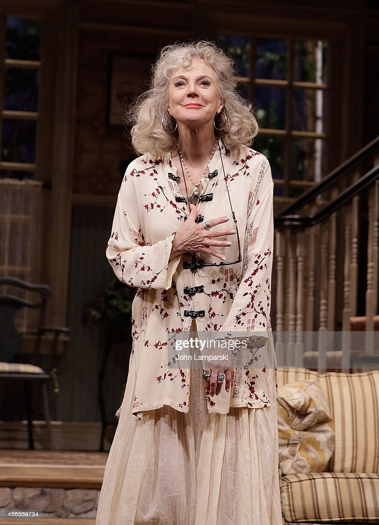 Blythe Danner performs during the 'The Country House' Opening Night Arrivals Curtain Call at Samuel J Friedman Theatre on October 2 2014 in New York...