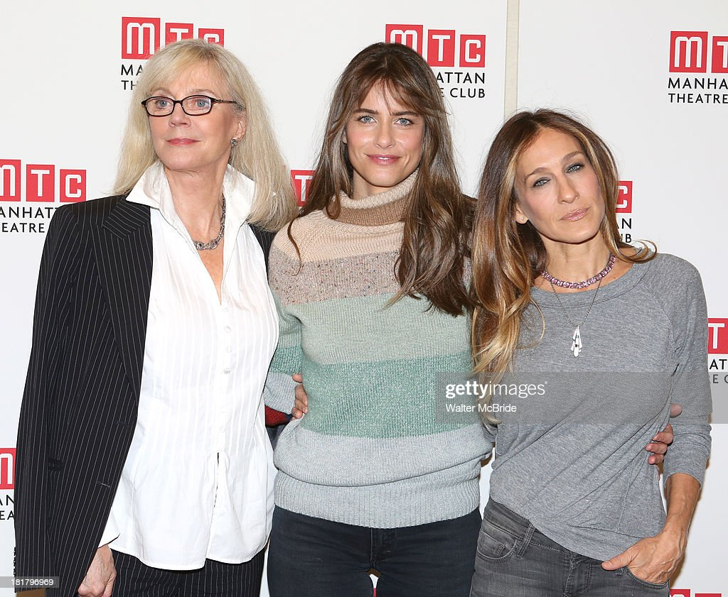 Blythe Danner, Playwright Amanda Peet and Sarah Jessica Parker attending the Meet & Greet for the MTC Production of 'The Commons of Pensacola' at the Manhattan Theatre Club Rehearsal Studios on September 25, 2013 in New York City.