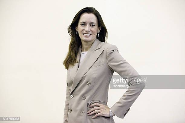 Blythe Masters chief executive officer of Digital Assets Holdings LLC poses for a photograph at the Singapore Fintech Conference in Singapore on...