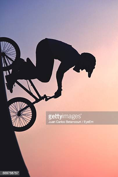 Bmx Biker Against Sunset