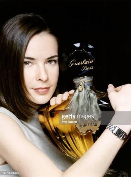 Bénédicte Delmas promoting Guerlain perfume