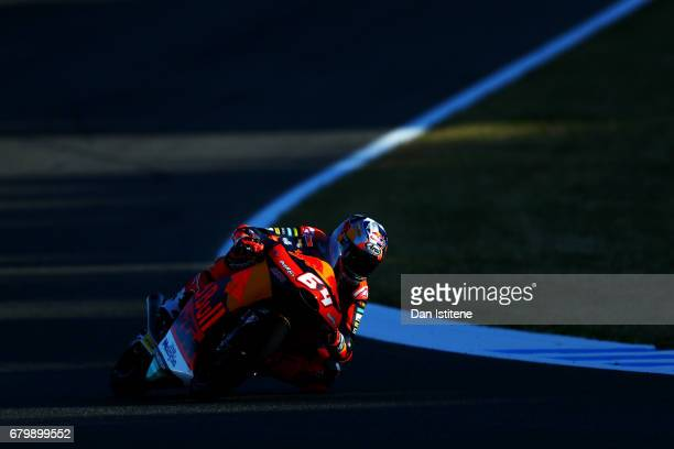 Bo Bendsneyder of the Netherlands and Red Bull KTM Ajo rides during warmup for Moto3 at Circuito de Jerez on May 7 2017 in Jerez de la Frontera Spain