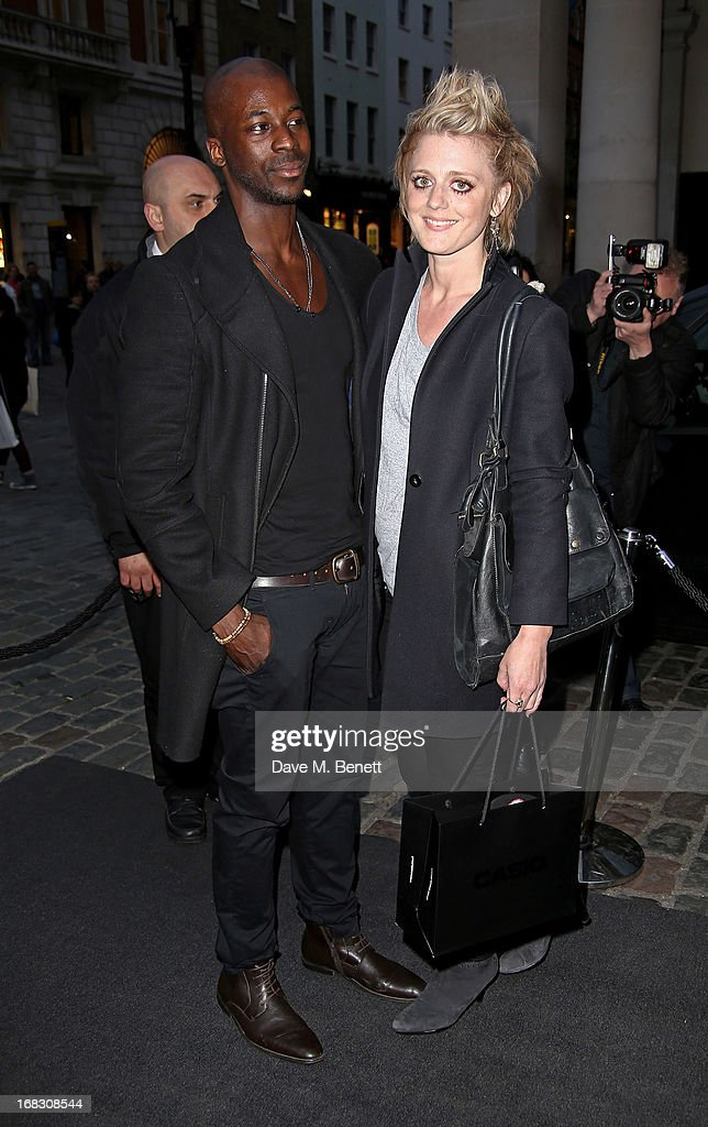 Bo Bruce (R) and guest attend as Casio London celebrate the 1st birthday of their Covent Garden store on May 8, 2013 in London, England.