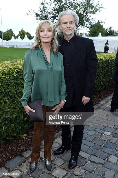 Bo Derek and Hermann Buehlbecker attend the media night of the CHIO 2016 on July 12 2016 in Aachen Germany