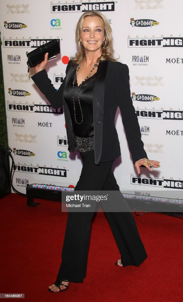 Bo Derek arrives at Celebrity Fight Night XIX held at JW Marriott Desert Ridge Resort & Spa on March 23, 2013 in Phoenix, Arizona.