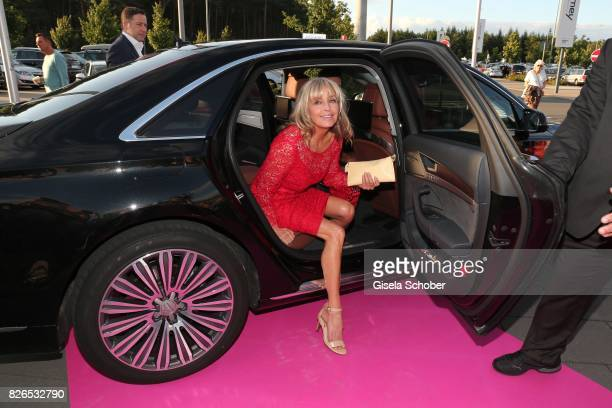 Bo Derek arrives to the late night shopping at Designer Outlet Soltau on August 4 2017 in Soltau Germany