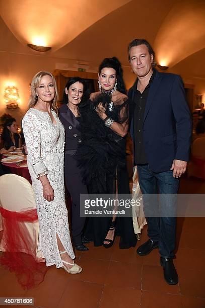 Bo Derek Debra Mace Lamia Khashoggi and John Corbett attend the Eva Longoria Foundation Dinner Gala during the 60th Taormina Film Fest at Hotel San...