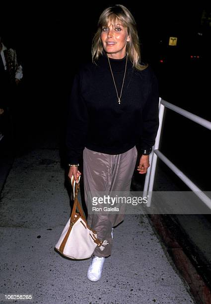 Bo Derek during Bo Derek Sighting at Spago in West Hollywood October 11 1989 at Spago in West Hollywood California United States